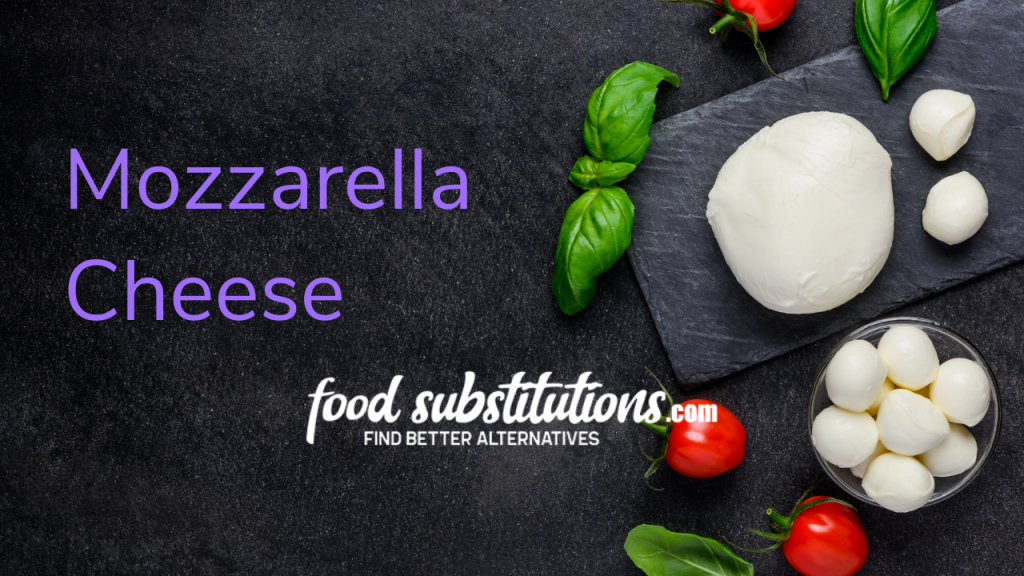 Paneer Substitute - mozzarella cheese